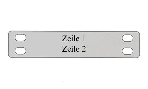 Kabelschild 3 - Metall Schilder
