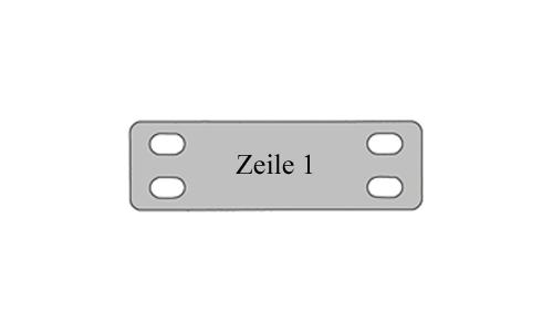 Kabelschild klein - Metall Schilder